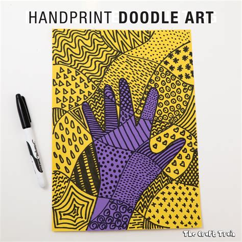 doodle do craft handprint doodle the craft