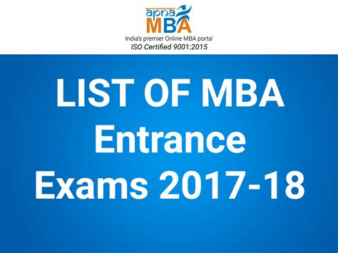 Mba Exams 2017 Ou by 16 National State Level Mba Entrance You Should Apply