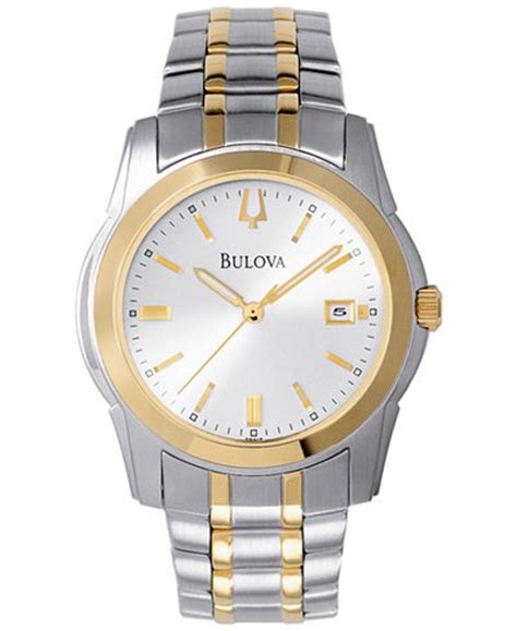 bulova s two tone stainless steel bracelet 40mm