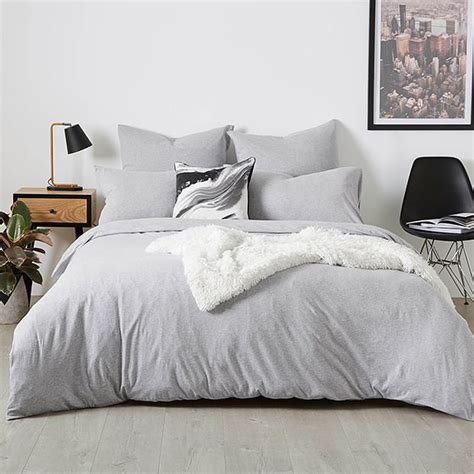 light grey jersey sheets jersey grey marle quilt cover set target australia