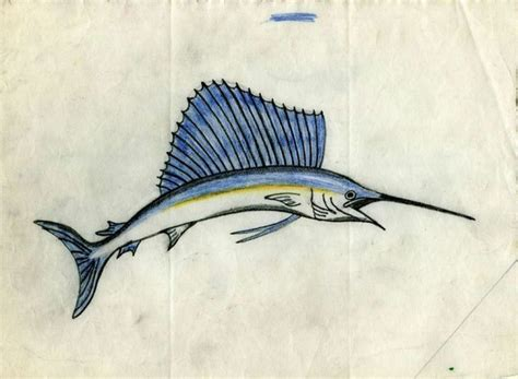 sailfish tattoo designs swordfish on vellum 9 5 quot x 7 quot sam steward
