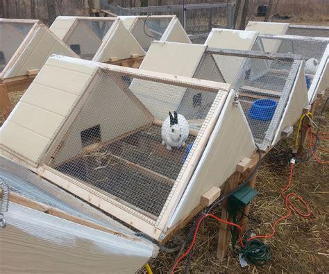 conejera diy super great a frame rabbit hutch homesteading