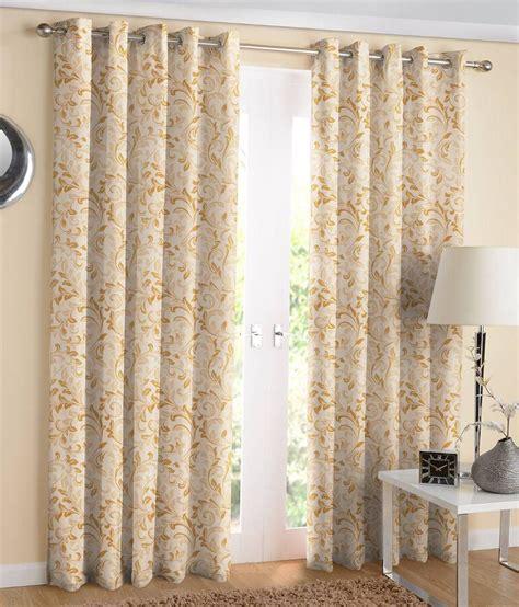 jacquard eyelet curtains suam jacquard gold eyelet window curtain pack of 2 buy
