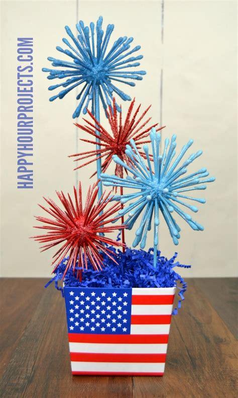 faux fireworks patriotic centerpiece happy hour projects
