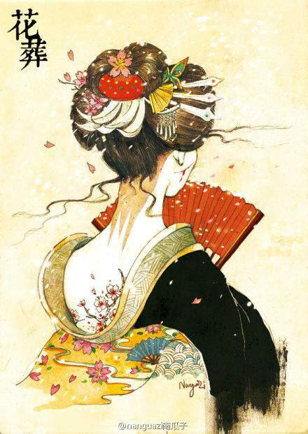 japanese geisha drawings pin by nhi mạc b 237 ch on