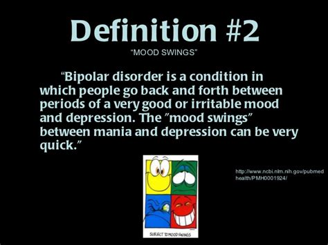 definition of mood swings bipolar disorder