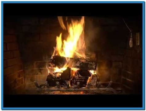 burning log screensaver free