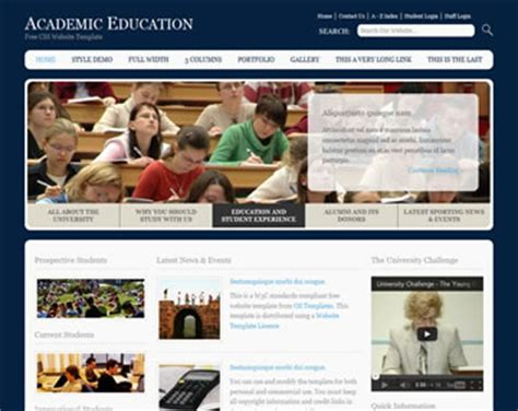 free css templates for educational websites educational website template free website templates os