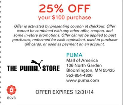 printable outlet mall coupons puma outlet coupon 50 off w promo code free shipping