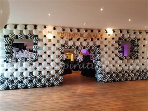 decorations and white black and white themed prom balloon decorations