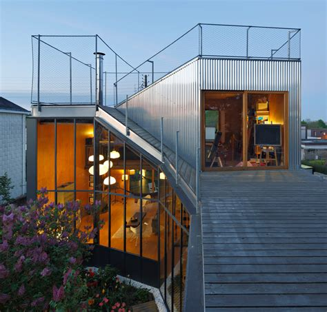 corrugated house designs cool french house with corrugated aluminium facade and roof top terrace modern house designs