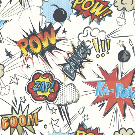 kapow poetry comix books kapow comic wallpaper rasch 272604 new bedroom room decor