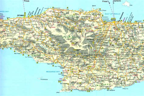 crete map maps of crete and east crete