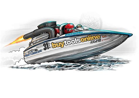 cartoon boat race automotive art illustration dmac studio illustrate create