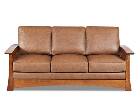 Mission Style Leather Sleeper Sofa American Made Cl7016dqsl American Sofa Bed