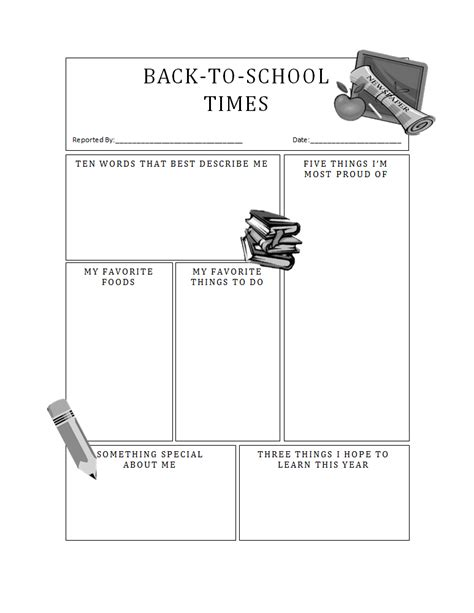 back to school templates back to school report 187 template