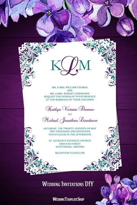 purple wedding invitation templates uc918 info