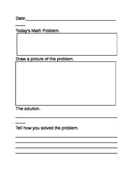 math journal template math journal template by martin teachers pay teachers