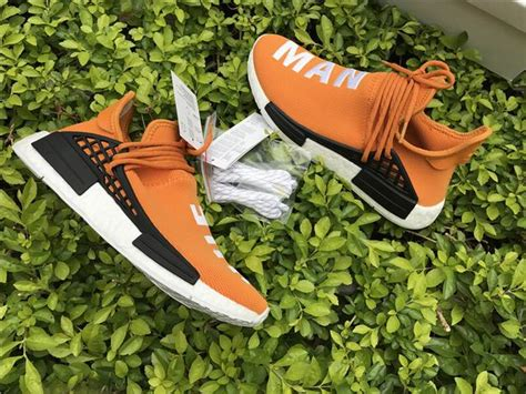 Adidas X Pharrell Nmd Human Race Orange authentic adidas human race nmd x pharrell williams orange