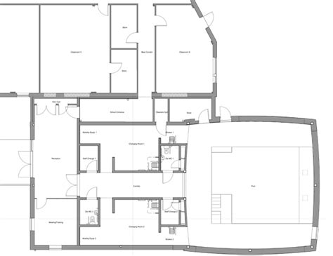 Club Floor Plan hatcher prichard architects bristol cardiff claremont