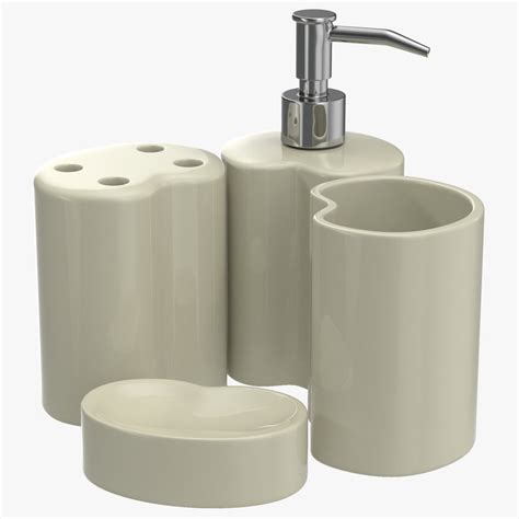 bathroom accessories set 2 3d model