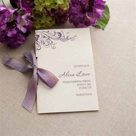 Wedding Programs Stationeries Gallery Get Inspired Cherish Paperie Bar Mitzvah Service Program Template