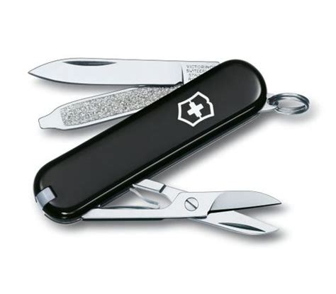 Swiss Army Sa2277 Black Silver victorinox swiss army 53012 classic sd 58mm 2 28 quot silver alox handle