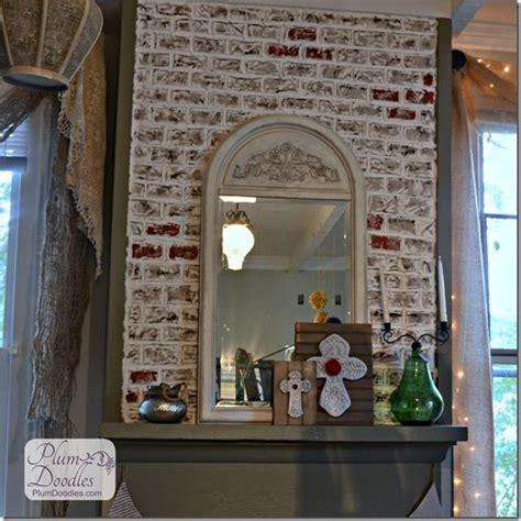 Faux Brick For Fireplace by Diy Faux Bricks Paint Plum Doodles