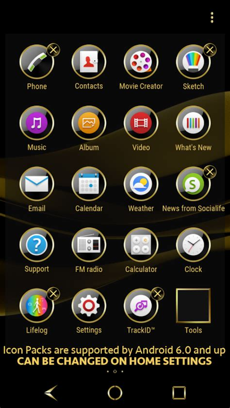 download gold themes for android black gold theme for xperia android apps on google play