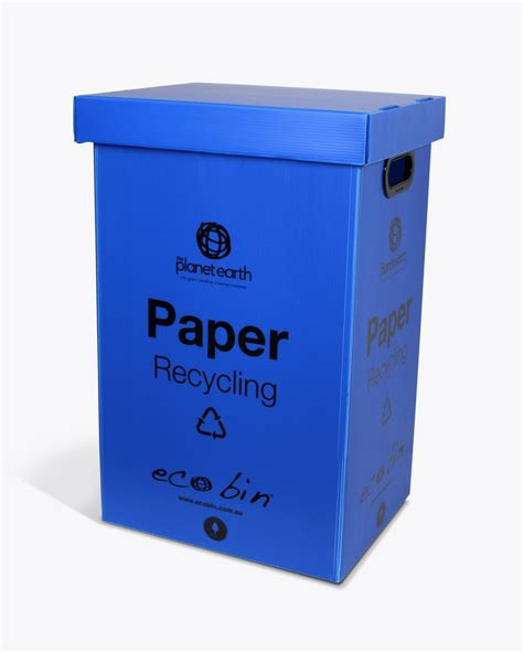 L Recycling by Paper Cardboard Recycling Bin Blue Ecobin 60 Litre