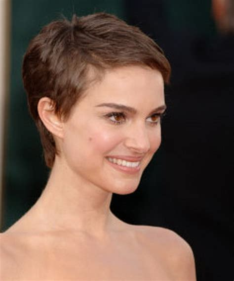 High Cheekbones Short Hair | natalie portman pixie haircut