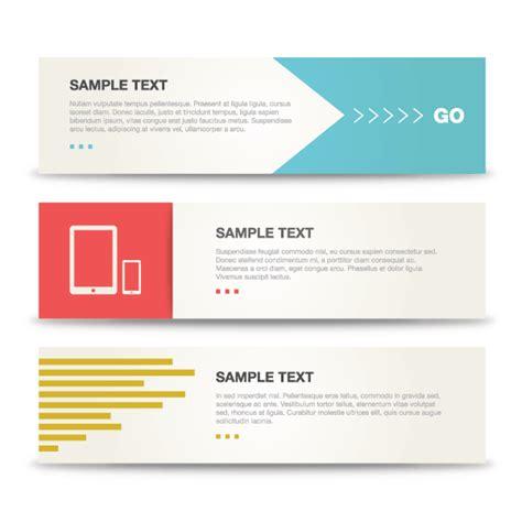 Minimalist Design Banner   minimalist banners vector template 123freevectors
