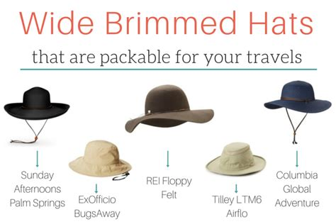packable wide brim hats that will save your skin