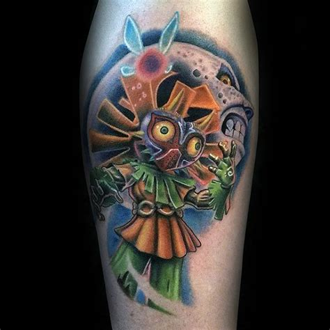 majora s mask tattoo 50 majora s mask designs for the legend of