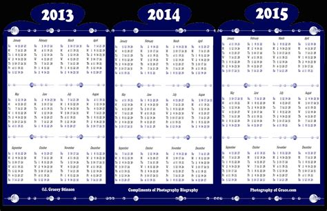 Printable 3 Year Calendar 2013 To 2015 | 5 best images of 2013 2015 calendar printable 2013 2014