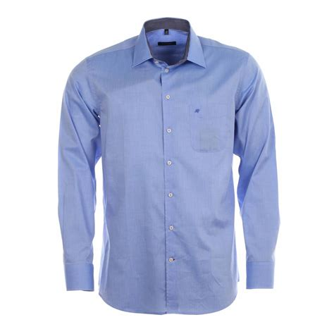 chemise droite jean chatel bleu ciel 224 opposition