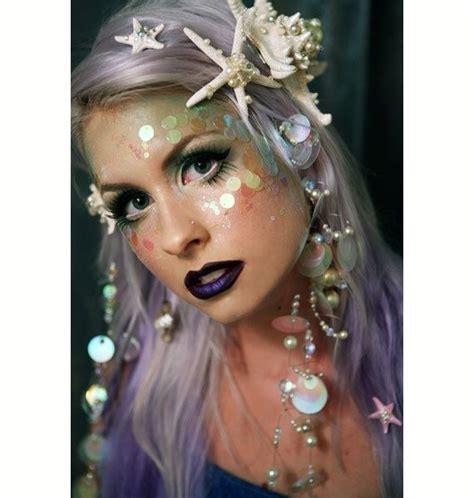 makeup tutorial little mermaid mermaid costume makeup use sequins to create a scaled