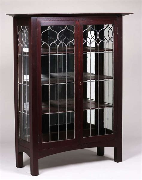 tobey furniture  leaded glass china cabinet