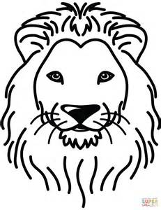 lion head colouring pages sketch coloring page