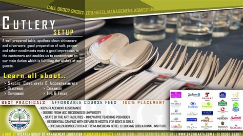 special cutlery special cutlery setup styles 187 bng hotel management kolkata