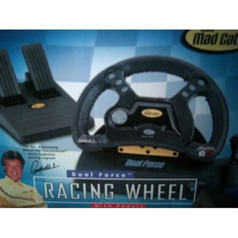 volante catz volant catz dual racig wheel avec pedales