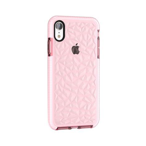 diamond texture tpu case  iphone xr pink alexnldcom