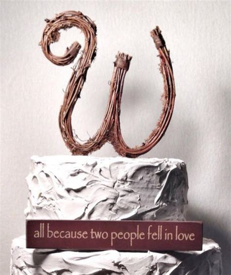 letter w wedding cake topper rustic wedding letter w rustic twig wedding cake topper