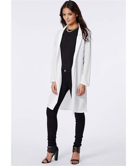 Rhea Blazer missguided rhea lightweight longline blazer