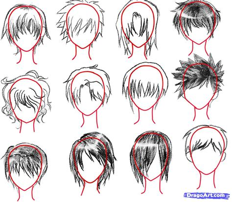 how to sketch an anime boy step by step anime people