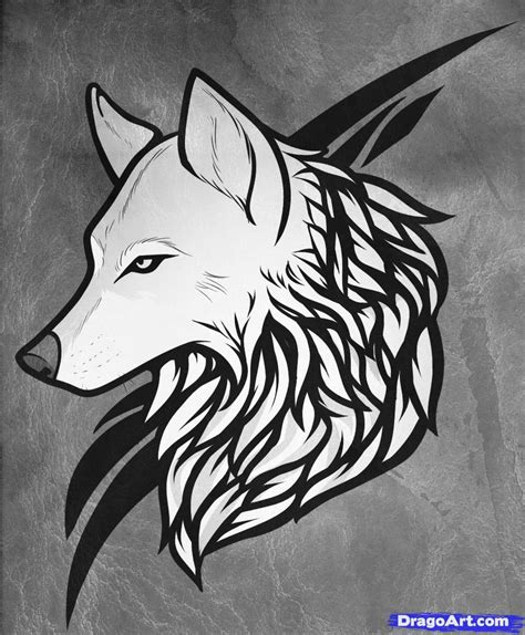 easy to draw tattoos how to draw a wolf wolf step by step