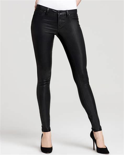 Cool Flatware aqua jeans coated skinny jeans in black bloomingdale s