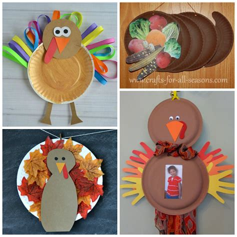 Paper Plate Turkey Crafts - thanksgiving crafts diy thanksgiving craft ideas for