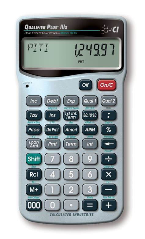 qualifier plus iiix finance calculators calculated