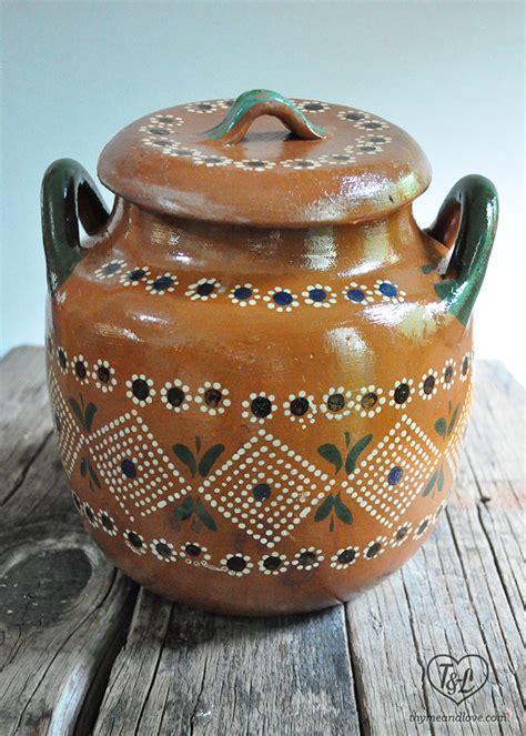 Mexican Clay Pots Frijoles De Olla Mexican Beans Thyme